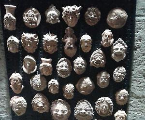 MASCHERE terracotta  sicilia cm 5 lotto 32 pezzi idea bomboniera artigianali