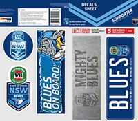 State of Origin NSW New South Wales BLUES Car Bumper Sticker DECALS Stickers