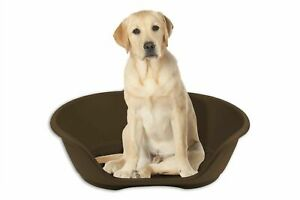 LARGE Plastic Pet Bed Dog Bed Heavy Duty Waterproof Puppy Cat Cushion Basket