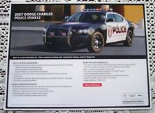RARE NEW 2007 DODGE CHARGER POLICE CAR LITERATURE BROCHURE HERO CARD!