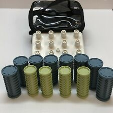 Conair Hot Rollers Curlers 12 Ct In Travel Bag No Clips included