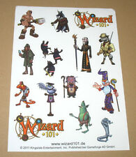 Wizard 101 promo Sticker Set very rare