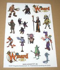 Wizard 101 promo Sticker Set very rare