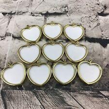 "Vintage 2"" Heart Frames Gold-Tone Plastic Hangable Needlecrft Projects/Photos-10"