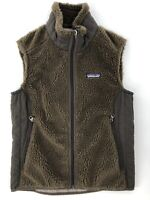 Women's Patagonia Los Gatos Fleece Brown Full Zip Lined Vest Size Small