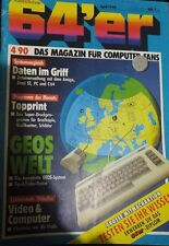 64er (64´er) 04/90 April 1990 C 64 Commodore (Dateiverwaltung, GEOS, Videofox)