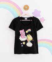 Care Bears x Pusheen Women's Ladies Tee T-Shirt Top JapanLA Hey Chickadee Kawaii