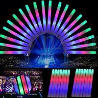 1~48Pcs Light Up Foam Sticks LED Wands Rally Rave Batons DJ Flashing Glow Stick