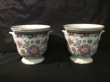 Pair of Staffordshire Royal Winton Flower/Plant Pots 5in Tall