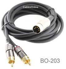 3ft. Din-5 Male to 2-RCA Male Premium Grade Audio Cable for B&O Systems, BO-203