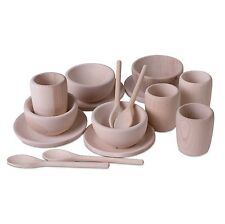 Children's Wooden Tea Set - Montessori Toy Treasure Basket Learning Resource