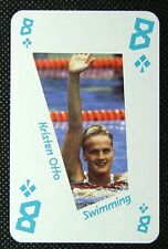 1 x playing card London 2012 Olympic Legends Kristen Otto Swimming 8C