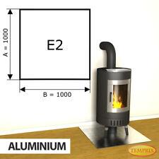 Kamin Bodenplatte Funkenschutz Kaminplatte Aluminium Ofen Platte Ofenblech - E2