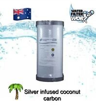 """5 MICRON WATER FILTER REPLACEMENT CARTRIDGE SILVER INFUSED CARBON 10"""" x 4.5"""" ✅✅✅"""