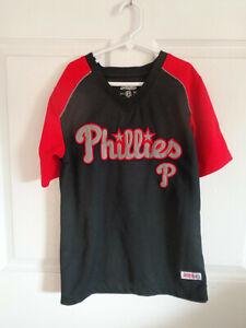MLB - Philadelphia Phillies - Black / Red - Stitches - Baseball Shirt - Size S