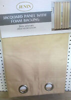 2 BEIGE CHAMPAGNE PANEL HEAVY  BLACKOUT SILVER GROMMET WINDOW CURTAIN LINED DRAP