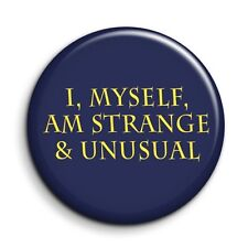 """Beetlejuice Strange and Unusual Quote FunnyFilm Button Pin Badge - 38mm/1.5"""""""
