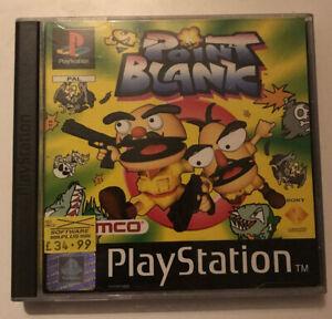 Point Blank - Sony PlayStation 1 - Namco - Arcade/Shooter - UK/PAL Version.