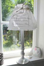 Tischleuchte Holz STRATFORD Lampe E27 weiß 55cm Shabby Vintage Landhaus Designer