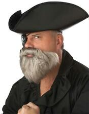 Grey Moustache and Beard Pirate Captain Costume Accessory CC70097