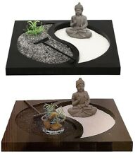 BUDDHA ZEN GARDEN TEA LIGHT CANDLE HOLDER SPIRITUAL HOME DECORATION ORNAMENT