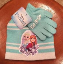 Girls Hat & Glove Set Disney Frozen One Size Princess Anna Queen Elsa Let-It-Go