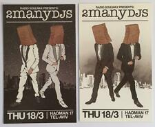 RADIO SOULWAX  2ManyDJs in Tel-Aviv 2010 – 2 Advert Flyers / Bills ‎