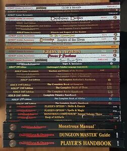 AD&D 2ND 2.5 Ed MULTILIST Book Player Aid Dungeon Master TSR 90s Updated 16 Jun