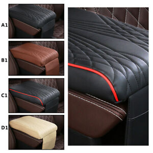 1Pc Car Armrest Pad Cover Center Console Box PU Leather Cushion Armrests Pad