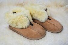 Men's Women's Genuine Sheepskin Slippers with ZIPPER Fur Hand Crafted HARD SOLE