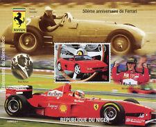 Niger 1998 MNH Ferrari 50th Anniv Michael Schumacher 1v S/S Cars Stamps