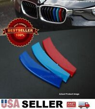 M Color ABS Clip on Overlay Strips Cover For 11-13 5 Series F10 F18 Kidney Grill