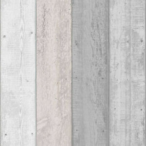 ARTHOUSE PAINTED RUSTIC OLD WHITE GREY PINK BLUSH SHABBY WOOD WALLPAPER 902809