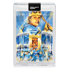 Topps PROJECT 2020 Card 286 - 1975 George Brett by Andrew Thiele -Presale-