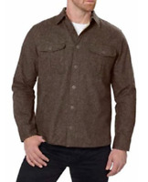 Freedom Foundry Men's Chamois Flannel Heather Brown Size L NWT