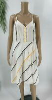 Rag and Bone Womens Doris Striped A-line Dress Size XS White Sleeveless Cotton