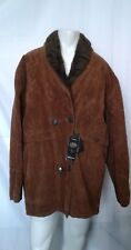 Reportage XL Men's Brown Long Sleeve Jacket 2 Button V-Neck Coat Made In Italy