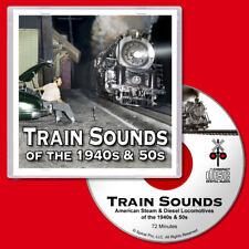 Train Sounds CD Steam & Diesel Locomotives for G Scale Model Railroads