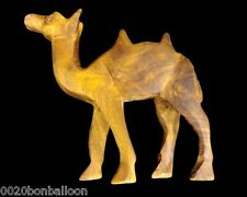 1 Pcs Egyptian Hand Made Wooden Camel Hand Crafted Animal Figurine Sculpture 229