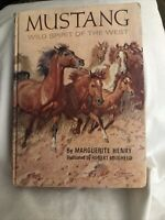 Mustang Wild Spirit of the West By Marguerite Henry 1966 HC (B16)
