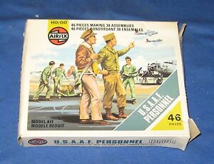 Vintage Airfix U.S.A.A.F. Personnel HO/OO Poly Figures