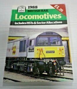 BRITISH RAIL LOCOMOTIVES Includes HSTs 1988 Ian Allan abc