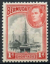 Bermuda 1938-52 SG#110, 1d Black And Red KGVI MH #D11812