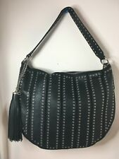 MICHAEL Michael Kors Brooklyn Grommet LG Conv Hobo Leather Black Color  $558 NWT
