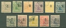 SERBIA 1911 - NEWSPAPER STAMPS Trojicki Sabor MI. 107/117 USED cancel Belgrade