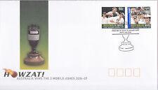 2006-07 Australia Wins The 3 Mobile Ashes (Gummed Stamps) FDC - Perth 6000 PMK