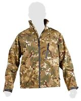 Mens Military Army Combat Recon Zip Fleece Trooper Sweat Shell Jacket Green New