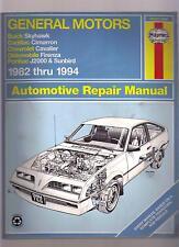 General Motors 1982-1994 Skyhawk Cavalier Sunbird J2000 USED Auto Repair Manual