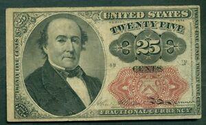 25¢ Fractional, Fr. #1309, VF+