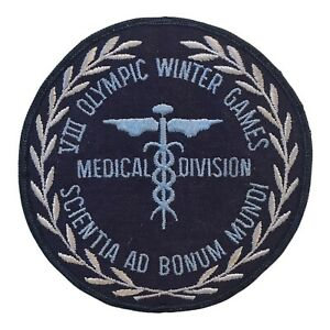 1960 WINTER OLYMPICS SQUAW VALLEY VIII OLYMPIC GAMES MEDICAL DIVISION PATCH
